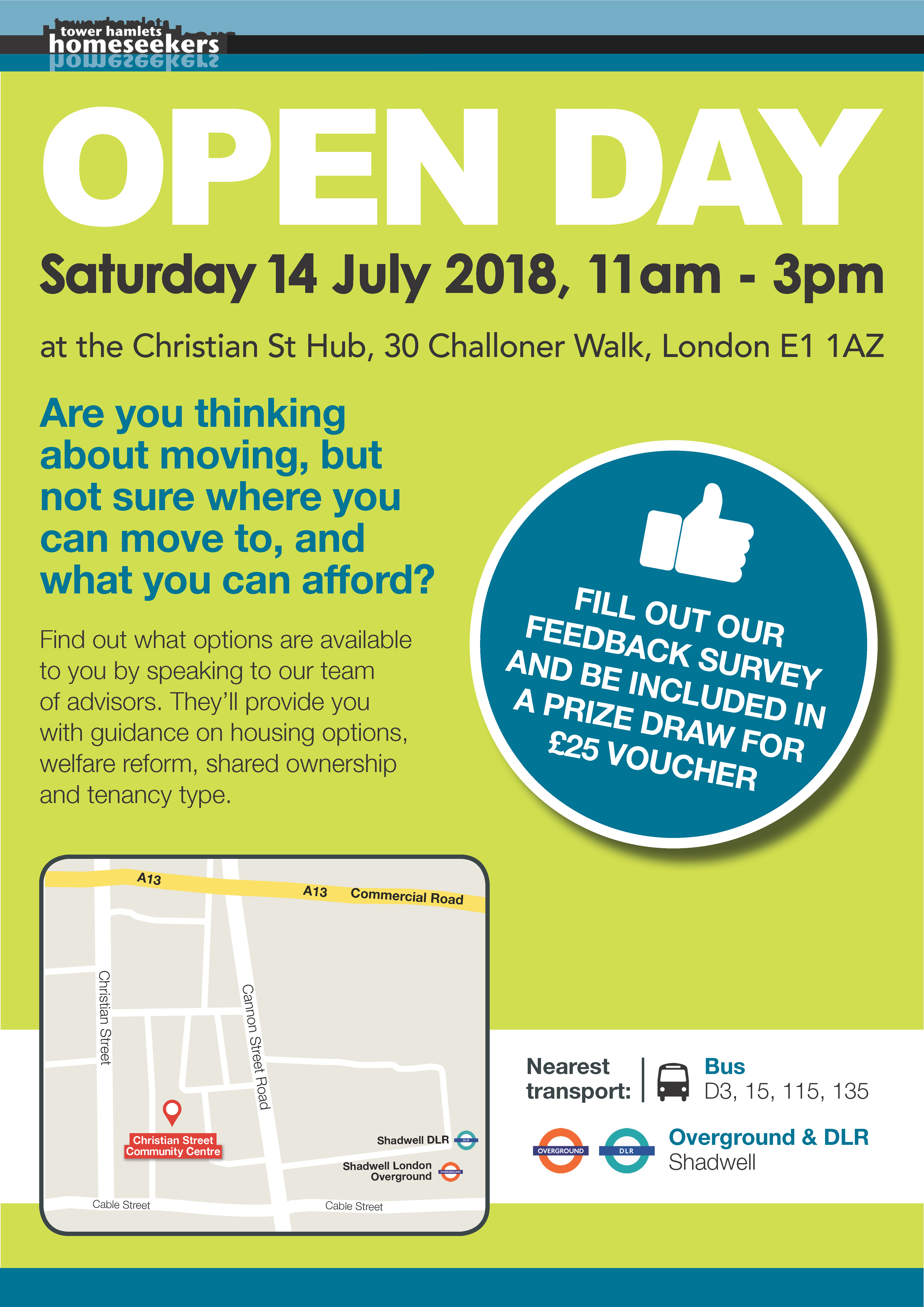 Homeseekers Open Day 2018 announced!  Saturday 14th July 11am to 3pm